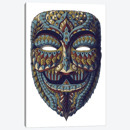 Anonymous Mask In Color III Canvas Print #BWZ43} by Bioworkz Canvas Print