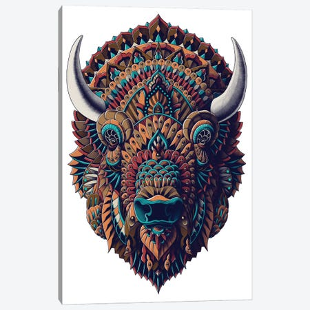 Bison In Color I Canvas Print #BWZ44} by Bioworkz Canvas Artwork