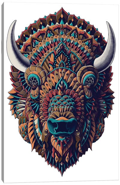 Bison In Color I Canvas Art Print
