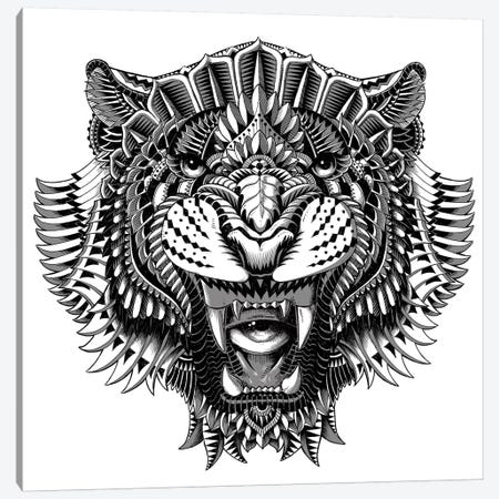Eye of the Tiger Canvas Print #BWZ50} by Bioworkz Canvas Wall Art