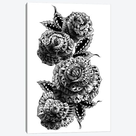 Four Roses Canvas Print #BWZ51} by Bioworkz Canvas Artwork