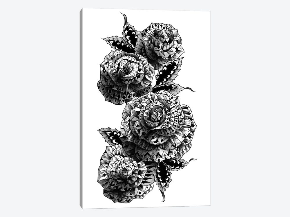 Four Roses 1-piece Canvas Art Print