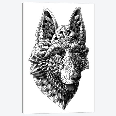 German Shepherd Canvas Print #BWZ53} by Bioworkz Canvas Art