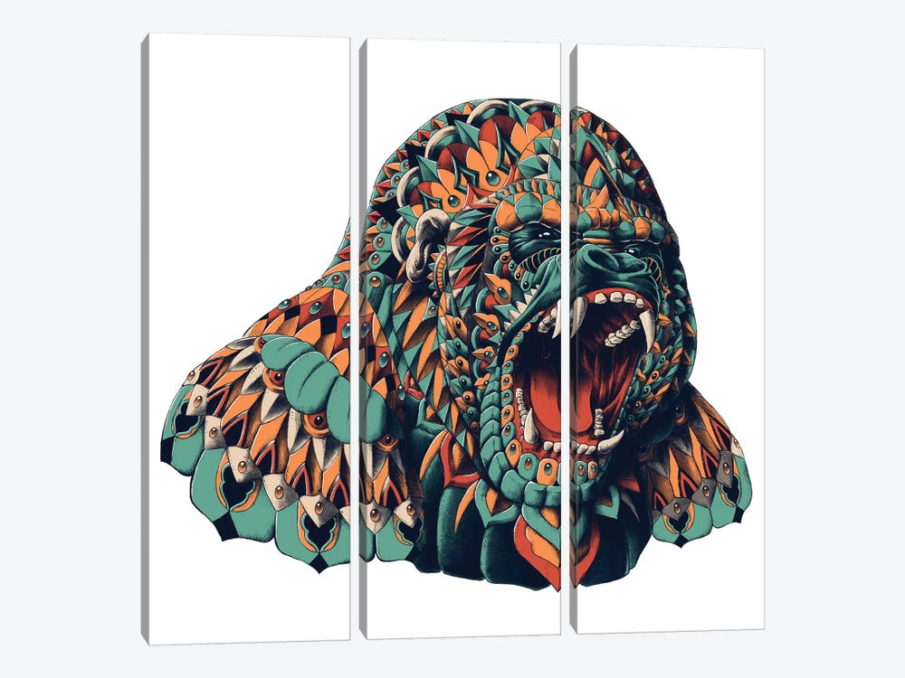 Gorilla In Color I by Bioworkz 3-piece Canvas Print