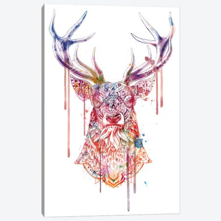 Ornate Buck In Color I Canvas Print #BWZ66} by Bioworkz Canvas Artwork