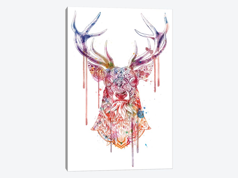 Ornate Buck In Color I by BIOWORKZ 1-piece Canvas Art Print
