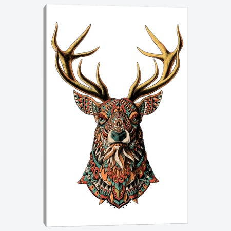 Ornate Buck In Color II Canvas Print #BWZ67} by BIOWORKZ Canvas Wall Art