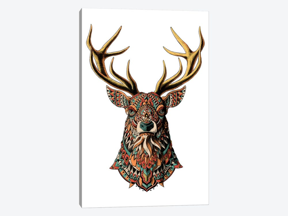 Ornate Buck In Color II 1-piece Canvas Wall Art