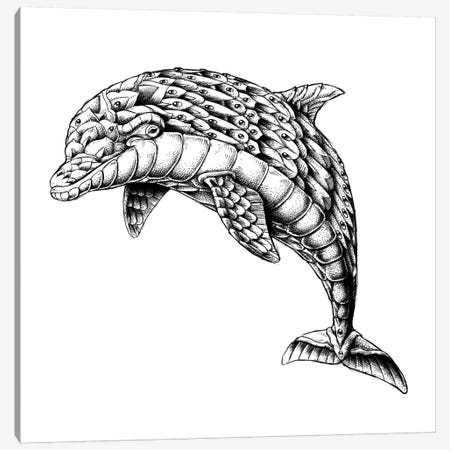 Ornate Dolphin Canvas Print #BWZ68} by Bioworkz Canvas Print