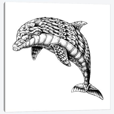 Ornate Dolphin Canvas Print #BWZ68} by Bioworkz Canvas Print