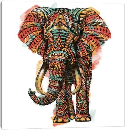 Ornate Elephant I In Color I Canvas Art Print