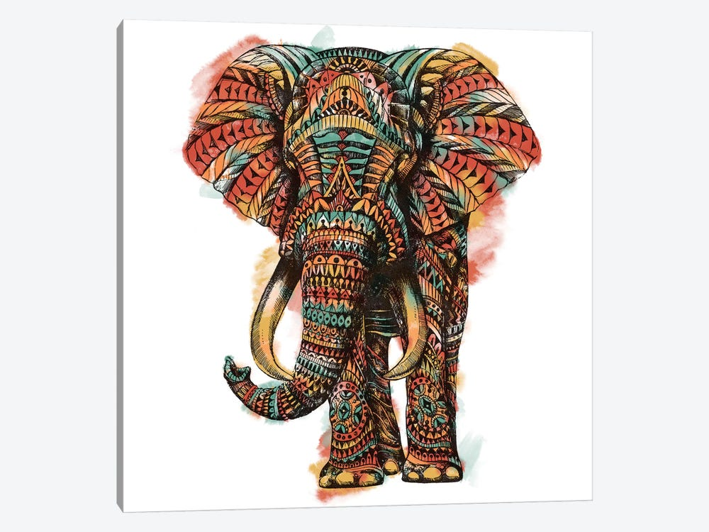 Ornate Elephant I In Color I by Bioworkz 1-piece Canvas Art