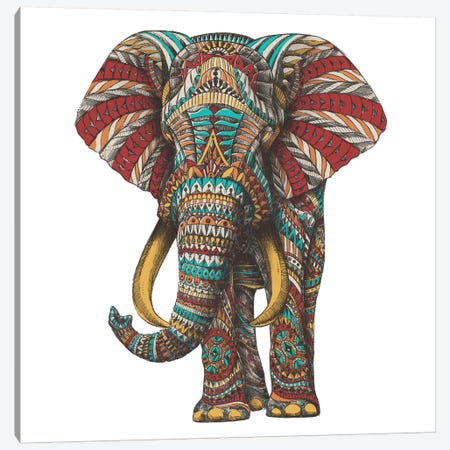 Ornate Elephant I In Color II Canvas Print #BWZ73} by Bioworkz Canvas Art