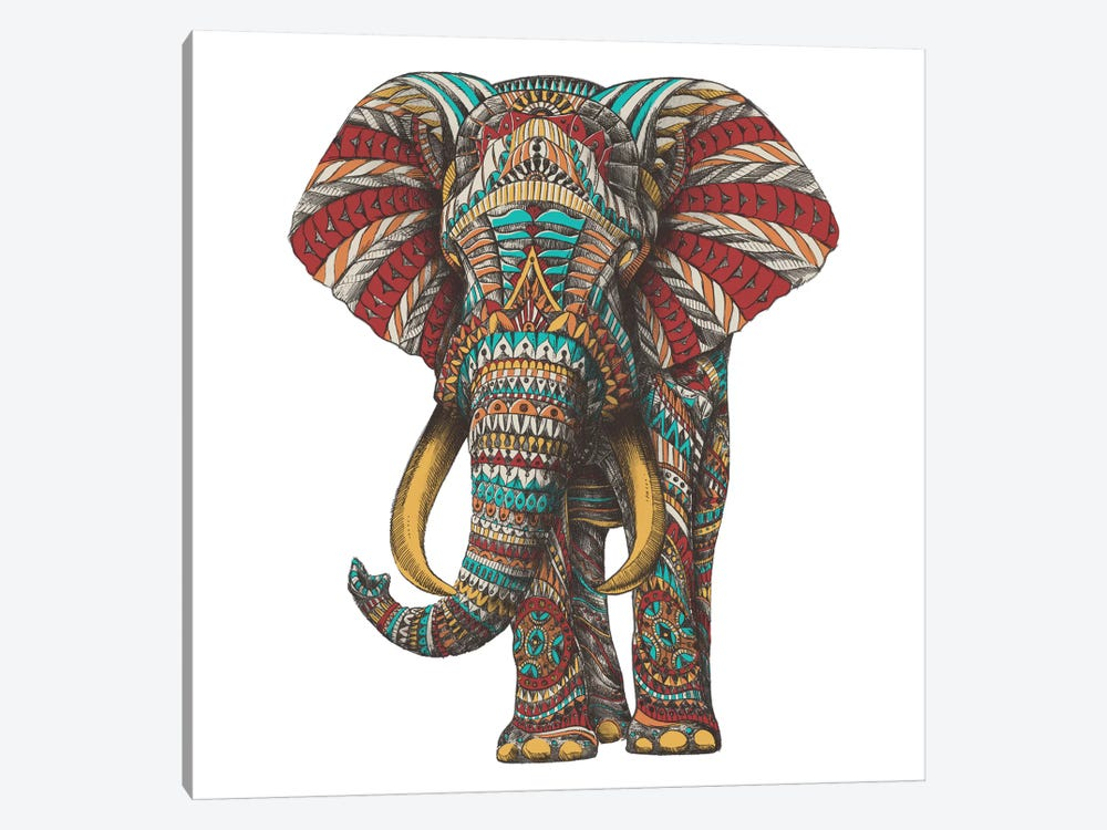 Ornate Elephant I In Color II by Bioworkz 1-piece Canvas Print