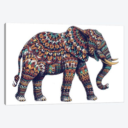 Ornate Elephant II In Color II Canvas Print #BWZ75} by Bioworkz Canvas Art Print