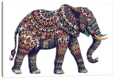 Ornate Elephant II In Color II Canvas Art Print