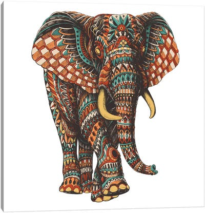 Ornate Elephant III In Color I Canvas Art Print