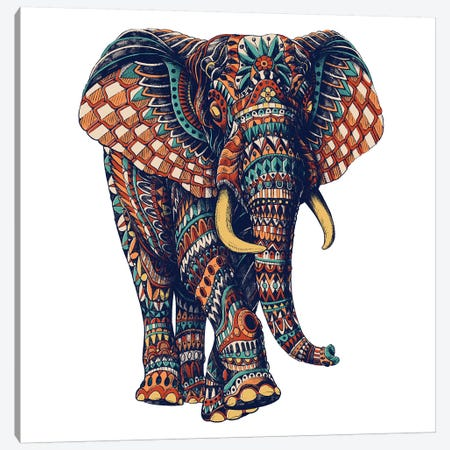 Ornate Elephant III In Color II Canvas Print #BWZ78} by Bioworkz Canvas Art