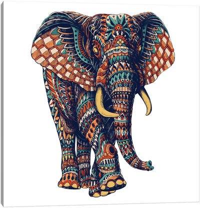 Ornate Elephant III In Color II Canvas Art Print