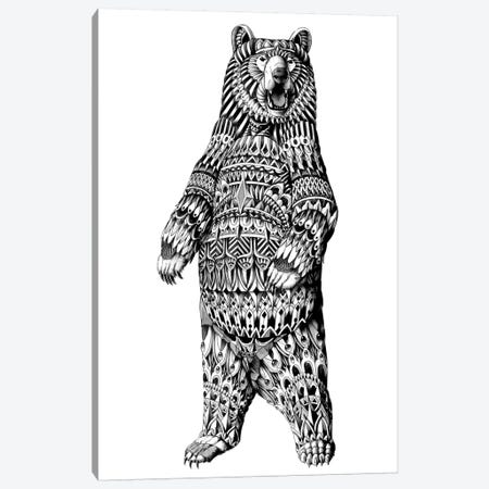 Ornate Grizzly Bear Canvas Print #BWZ82} by Bioworkz Canvas Art Print