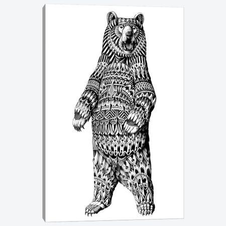 Ornate Grizzly Bear Canvas Print #BWZ82} by Bioworkz Canvas Art Print