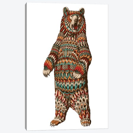 Ornate Grizzly Bear In Color I Canvas Print #BWZ83} by Bioworkz Canvas Print