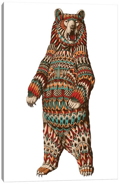 Ornate Grizzly Bear In Color I Canvas Art Print