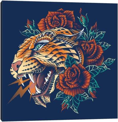 Ornate Leopard In Color I Canvas Art Print