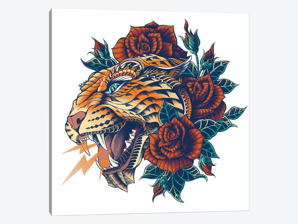 Ornate Leopard In Color II by Bioworkz 1-piece Canvas Art