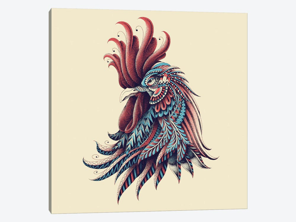 Ornate Rooster In Color I by Bioworkz 1-piece Canvas Print