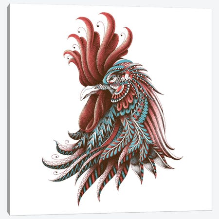 Ornate Rooster In Color II Canvas Print #BWZ89} by BIOWORKZ Art Print