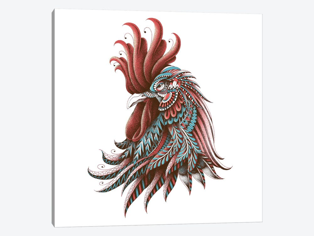 Ornate Rooster In Color II by BIOWORKZ 1-piece Canvas Art