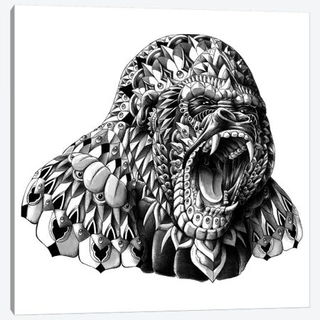 Gorilla Canvas Print #BWZ8} by Bioworkz Canvas Art