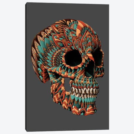 Ornate Skull In Color I Canvas Print #BWZ90} by BIOWORKZ Canvas Wall Art