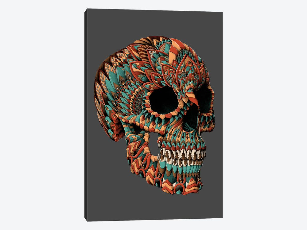 Ornate Skull In Color I 1-piece Canvas Wall Art