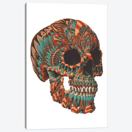 Ornate Skull In Color II Canvas Print #BWZ91} by Bioworkz Canvas Art