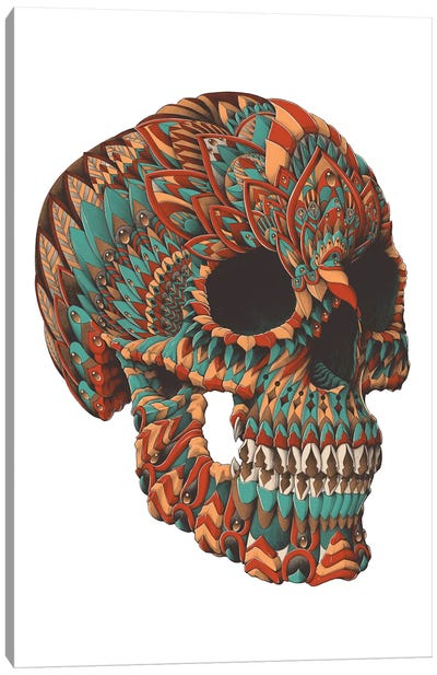 Ornate Skull In Color II Canvas Art Print