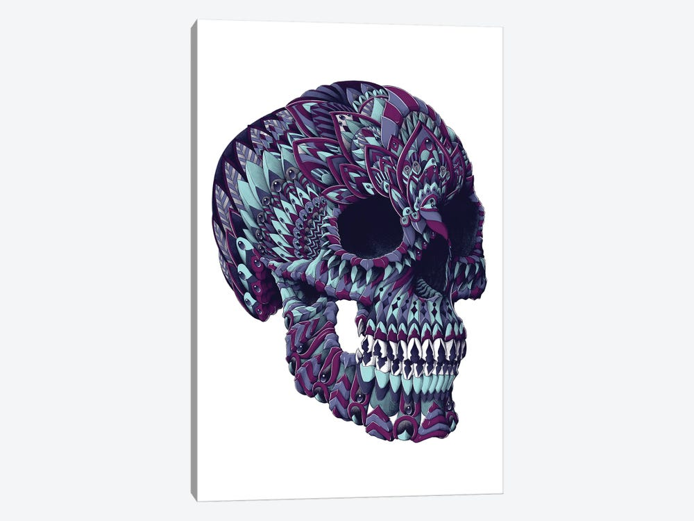 Ornate Skull In Color III by Bioworkz 1-piece Canvas Art