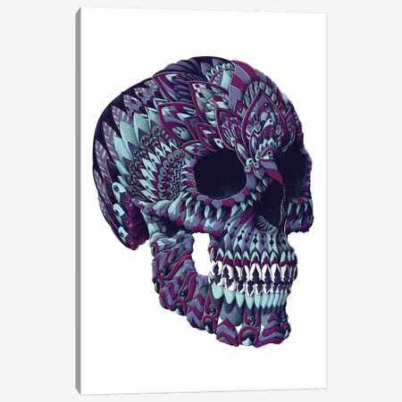 Ornate Skull In Color III Canvas Print #BWZ92} by Bioworkz Canvas Art