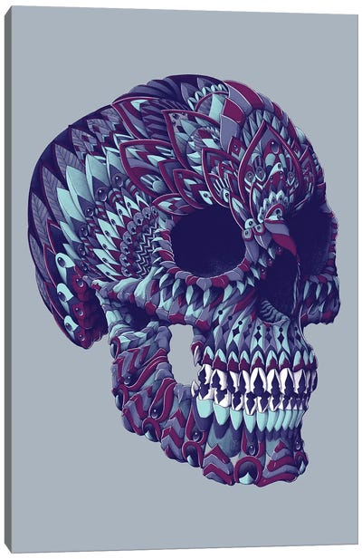 Ornate Skull In Color IV Canvas Art Print