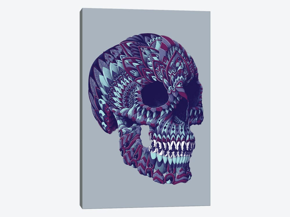 Ornate Skull In Color IV by Bioworkz 1-piece Art Print