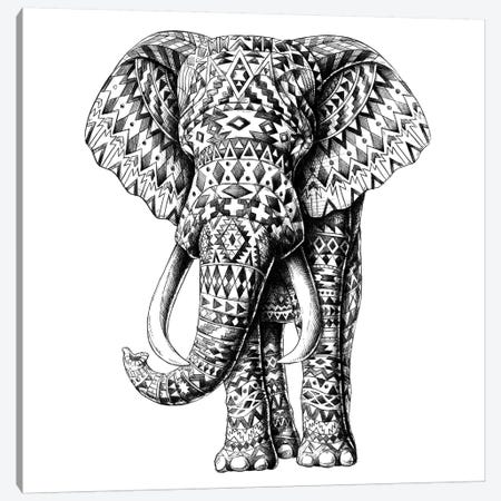 Ornate Tribal Elephant Canvas Print #BWZ94} by BIOWORKZ Canvas Print