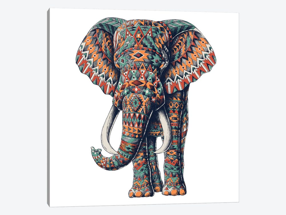 Ornate Tribal Elephant In Color I 1-piece Art Print