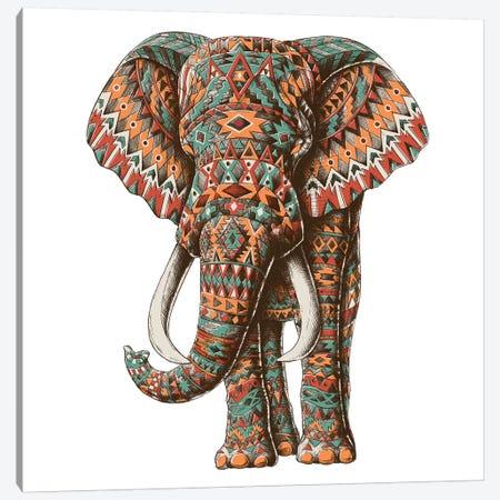 Ornate Tribal Elephant In Color II Canvas Print #BWZ96} by Bioworkz Art Print