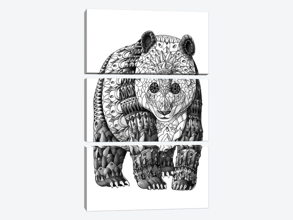 Panda by Bioworkz 3-piece Canvas Art Print