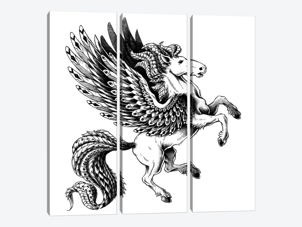 Pegasus by Bioworkz 3-piece Canvas Artwork