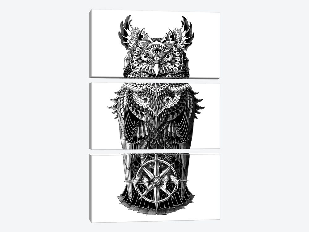 Grand Horned Owl by Bioworkz 3-piece Canvas Art