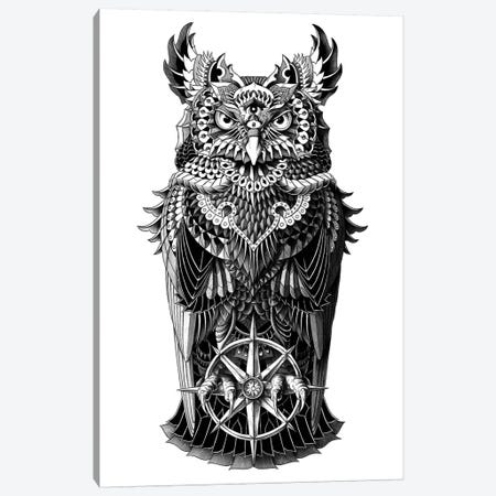 Grand Horned Owl Canvas Print #BWZ9} by Bioworkz Canvas Art