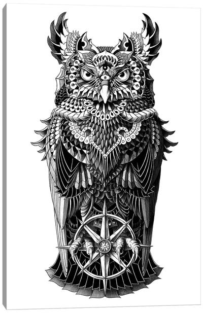 Grand Horned Owl Canvas Art Print