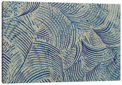 Textures in Blue V Canvas Art Print